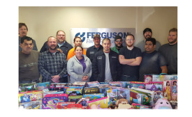 Ferguson partnered with the U.S. Marine Corps Reserve Toys for Tots Foundation.