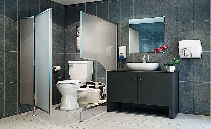 SFA Saniflo SANIBEST PRO; toilet, HET, water conservation, bath & kitchen showrooms, PHCP distributors