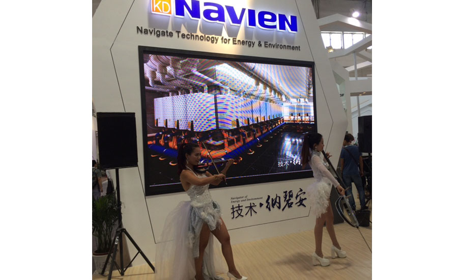 Navien provided musical entertainment during ISH China/CIHE.