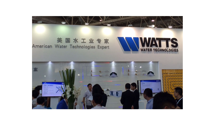 Watts brands itself as the American Water Technologies Expert at ISH China/CIHE.