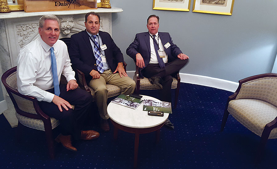 Kevin McCarthy meets with ASA member Kevin Hashim and Dan Byrum