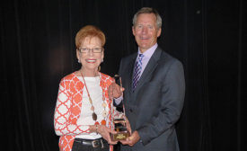 Modern Supply's Dottie Ramsey (left) is the recipient of the 2016 Fred V. Keenan Lifetime Achievement Award