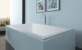 Clarke Architectural center-drain bathtub