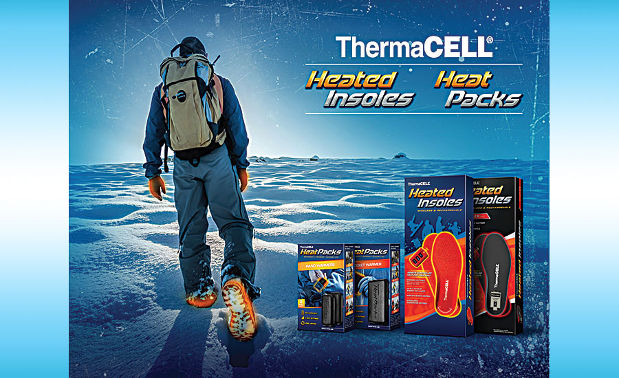 Thermacell heated insoles and heat packs