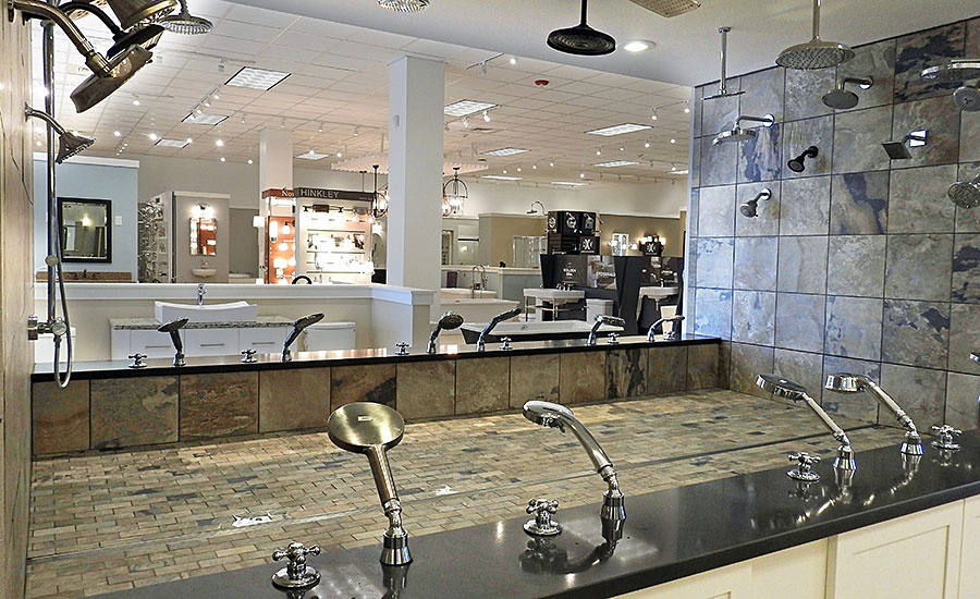F.W. Webb recently remodeled and expanded its Frank Webb's Bath & Lighting Showroom in Bangor, Maine