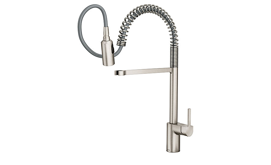 moen spring kitchen faucet 2016 10 19 supply house times reviews residential coil spring kitchen faucet in brushed