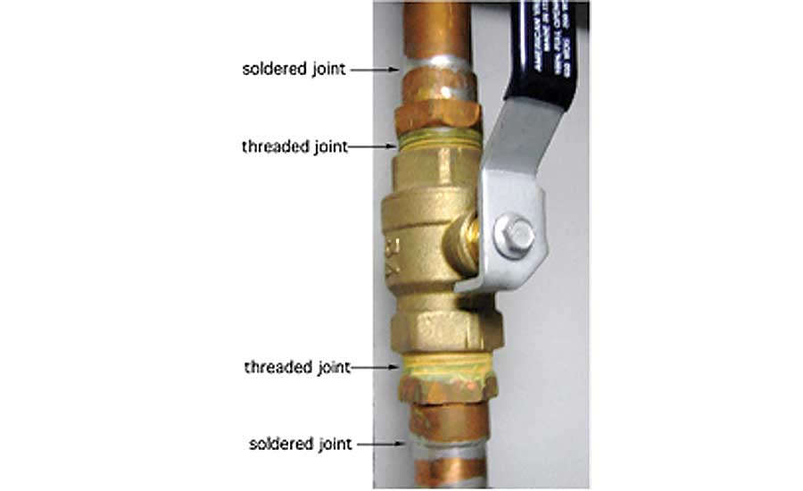 Figure 8. A 2014 estimating manual puts the installed cost of a 1-in. copper x male adapter fitting at $12.26