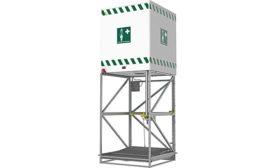 Speakman emergency tank shower