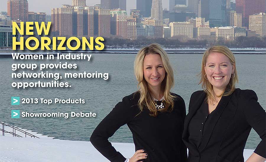 Katie Poehling Seymour (left, shown with NIBCO's Ashley Martin on the Chicago lakefront) represents First Supply's fifth generation