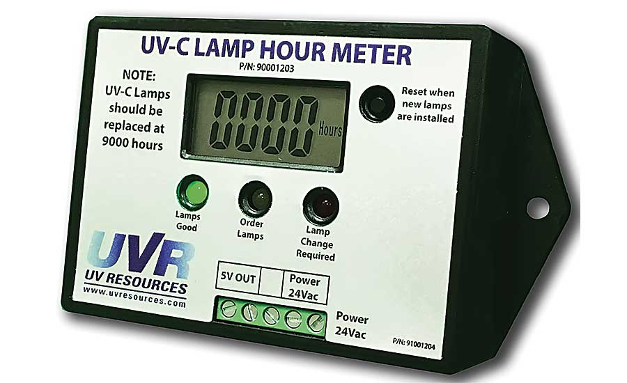 UV Resources lamp hour meter