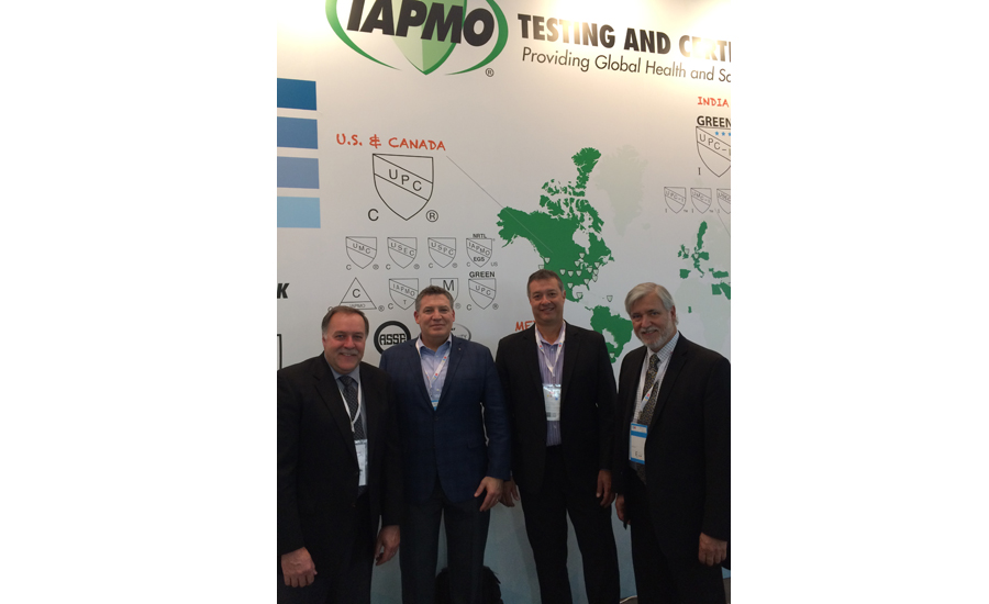 In IAPMO's booth at ISH 2017