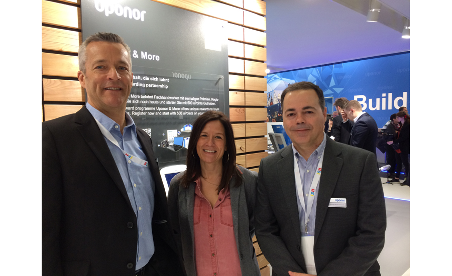 Uponor's Bill Gray (from left), Dena Mayne and Fernando Fernandez