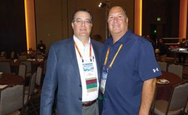 Bradford White President and COO Bruce Carenvale (left) with Bradford White CEO Nick Giuffre at NETWORK2017 in Nashville
