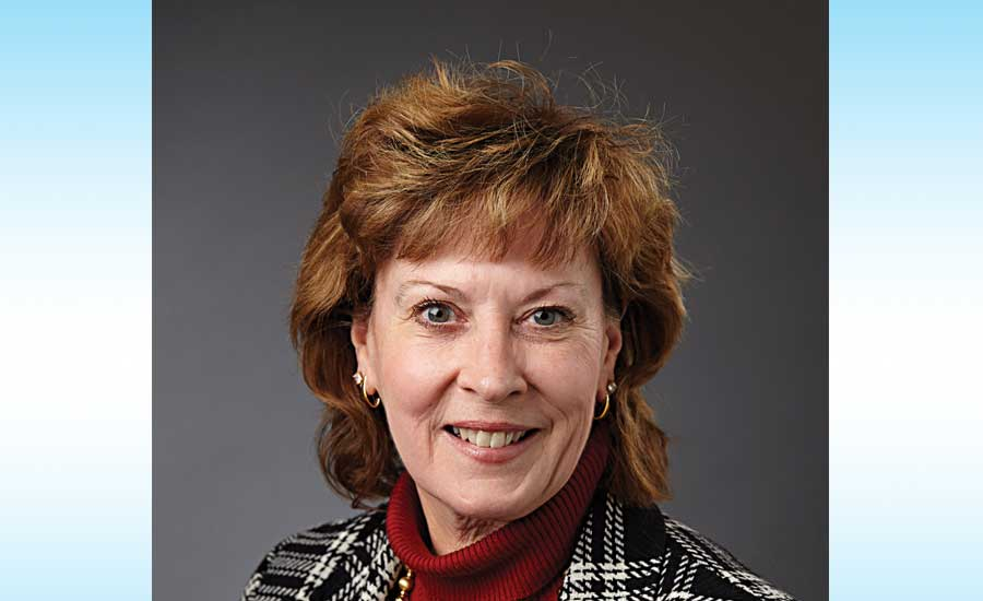 Barbara Higgens points to PMI's leadership role in water-efficiency standards