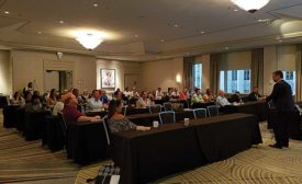 Fredric Lucas, CEO of Prima Ressource, offers Forté summer meeting attendees advice