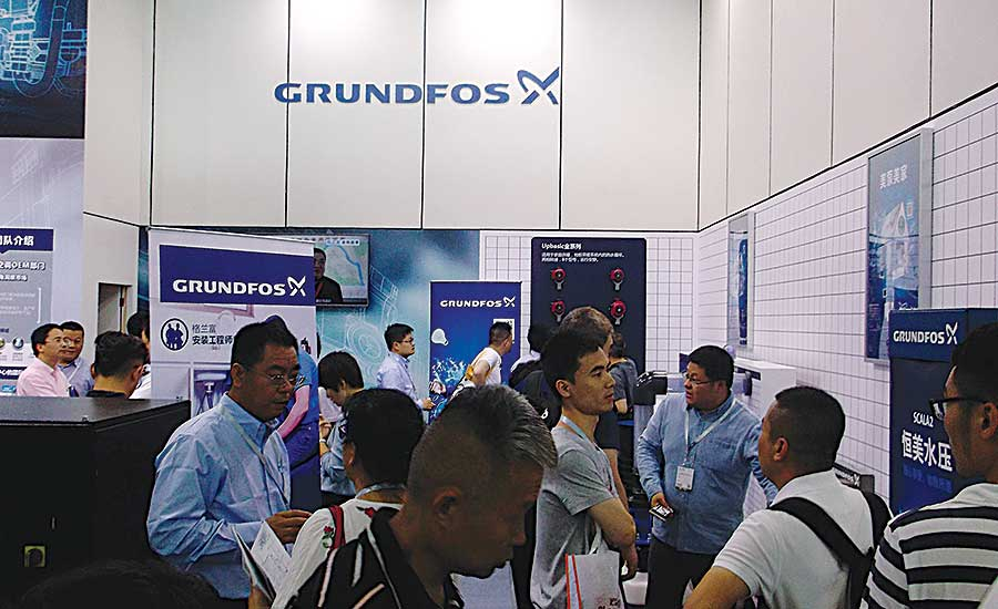 Grundfos Display at 2017 ISH China