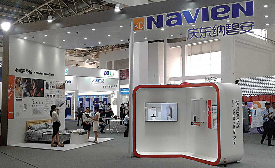 Navien Display at 2017 ISH China