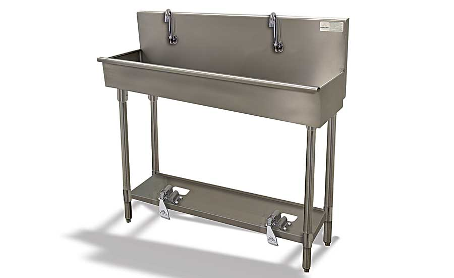 Advance Tabco multi-station sinks