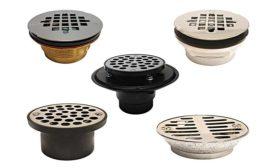 Keeney Mfg. Co. shower fixture drains