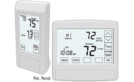 eControls touch thermostats