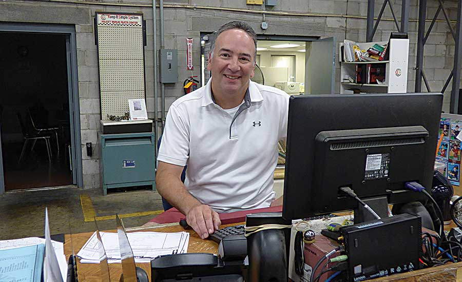 Warehouse Operations Manager Scott Singer