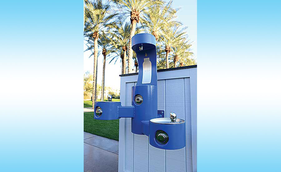 Elkay outdoor drinking fountain