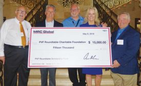 MRC Global makes donation to PVF Roundtable Scholarship Fund