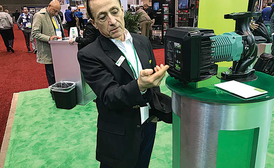 Taco's Joe Castellone HVACR manufacturers debut new products at AHR Expo