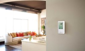 touchscreen radiant thermostat from Uponor