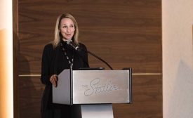 Gerhard's COO Katie Poehling-Seymour talks during AD's recent Decorative Brands conference