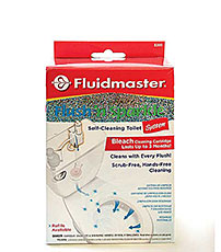 Fluidmaster self-cleaning toilet system