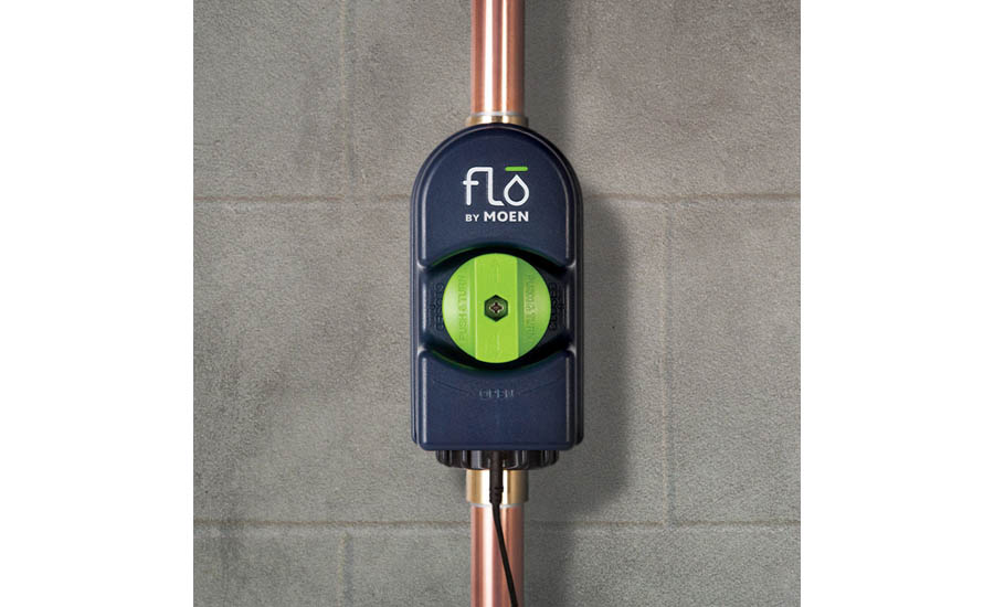 Wi-Fi connected device that is installed on the home's main water supply line and connected to its smartphone app