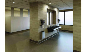 Public restrooms also provide functional space beyond the necessities of using the toilet and washing hands.