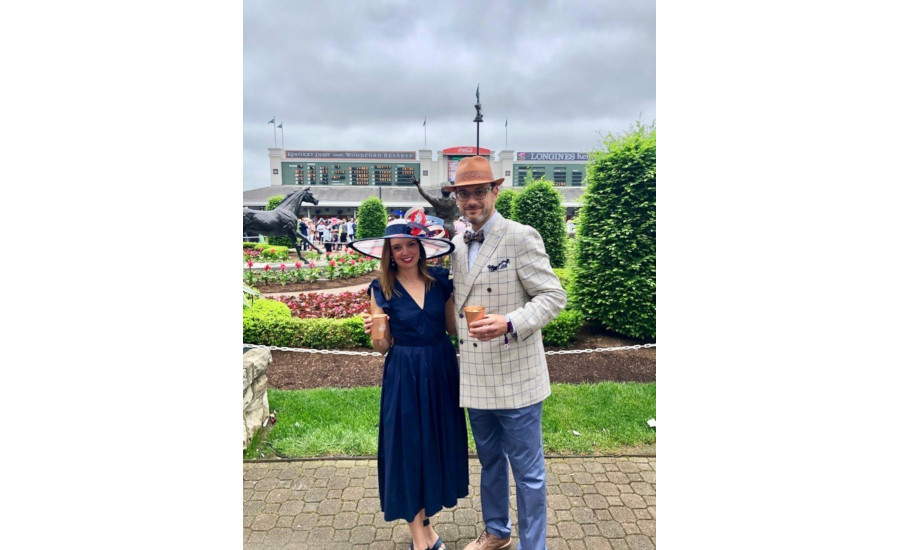 Alex Goldfayn and his wife at the 2019 Kentucky Derby