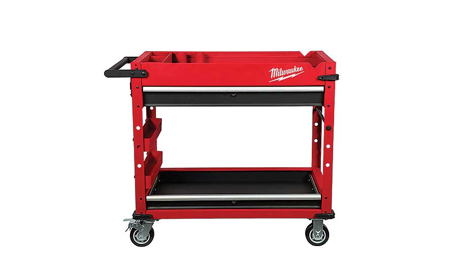Milwaukee Tool steel work cart
