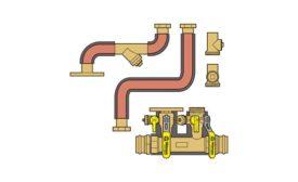Webstone near-boiler piping kit