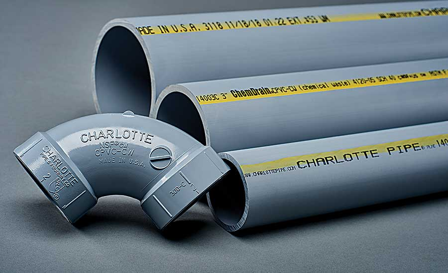 Charlotte Pipe chemical waste drain system